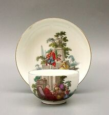 EARLY 18thC MEISSEN HP CUP & SAUCER c.1750
