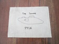 WW1 Trench Art Flag Of A Tank - The Somme 1916 - Great Prop or Shop Display Item