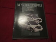 2002 CHRYSLER TOWN & COUNTRY VOYAGER ACCESSORIES ORIGINAL DEALER SALES BROCHURE