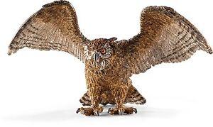 NEW SCHLEICH 14738 Eagle Owl - Zoo Wildlife Wild Life RETIRED