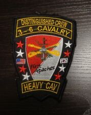 U.S.ARMY AVIATION PATCH, HHD,3RD SQD, 6TH CAVALRY, DISTINGUISHED, KOREAN MADE