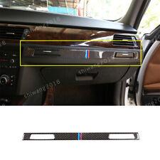Real Carbon Fiber Copilot Cup Holder Cover For BMW 3 Series E90 E92 E93 2005-12