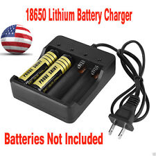 4 Slots 18650 Lithium Rechargeable Batteries Fast Li-ion Battery Charger US Plug