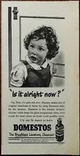 """Domestos Brushless Lavetory Cleansre """"Is It Alright Now?"""" Vintage Advert 1953"""