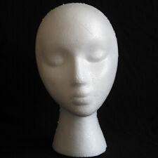 Lightweight White Foam Maniquin Head Wigs Glasses Display/Wig Stand Female Model