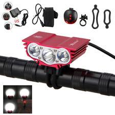 12000LM 3x XML T6 LED Frontal Foco Cabeza Bicicleta Luz Linterna  batería