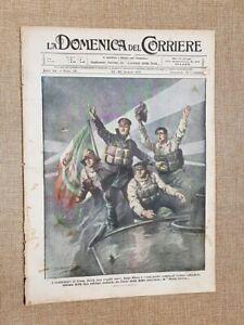 La Domenica del Corriere 30 Giugno 1918 WW1 Morte Boito Mefistofele Szent Istvan