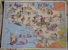 Carte de France Illustrées d'après Pinchon Bécassine Lorient Noirmoutier Rennes