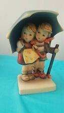 """Hummel """"Stormy Weather"""" Boy And Girl Under Umbrella #71 Good Condition"""
