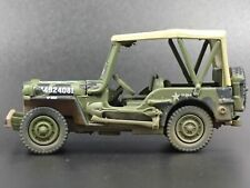 WWII WILLYS MB JEEP ARMY MILITARY DIRTY 1:64 SCALE COLLECTIBLE DIECAST MODEL CAR