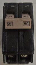 Cutler Hammer CH250 2 Pole 50 Amp 120/240 V plug in CH circuit breaker