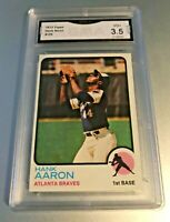 HANK AARON (HOF) 1973 Topps #100 GMA Graded 3.5 VG+