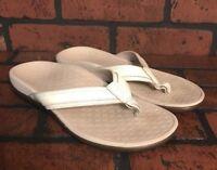 Vionic Orthotic Orthaheel Women's Flip Flop Sandals White Size 6