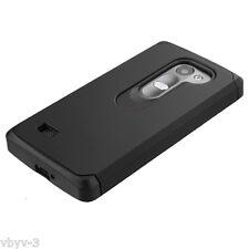 For LG G3 Stylus D690 Slim Hybrid ShockProof Dual Layer Hard Case Cover BLACK