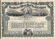 Stock certificate Boston & Albany Rail Road Company dated 1955