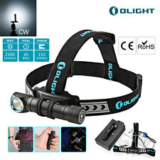 Olight H2R Nova 2300lm Flashlight XHP50 Cool White Headlamp w/ Battery&charger