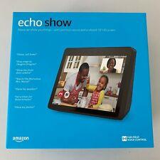 "NEW Amazon Echo Show 2nd Gen Premium Sound 10.1"" HD Screen Charcoal"