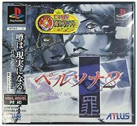 PS1 PS PlayStation 1 Persona 2 sin Free Shipping with Tracking# New from Japan