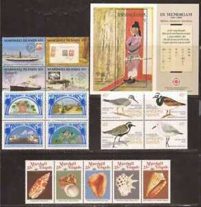 Marshall Islands - 1989 5 Different Complete Sets - Scott #209 229