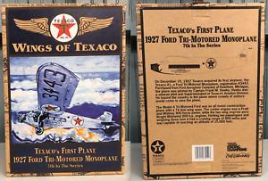 Ertl Wings of Texaco 1927 Ford Tri-Motored Monoplane Die Cast Airplane Bank