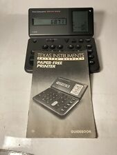 Vintage 1988 Texas Instruments TI-5038 Paper Free Printer Display Calculator