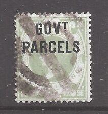 1887 1 shilling green GOVT PARCELS Official overprint SG O68 cat £280 d1856