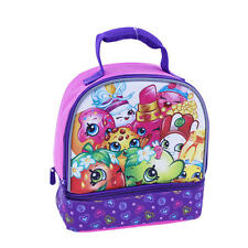 Shopkins Dual Compartment Lunch Box Cheeky D'Lish Donut Lippy Cheese Louise Nwt