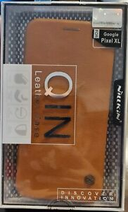 Nillkin QIN Brown Leather Case for Google Pixel XL Cell Phone Case - NEW
