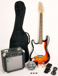 SX RST 3/4 3TS Left Handed Electric Guitar Package 3/4 Size w/Amp, Bag