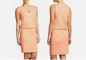 ATHLETA Vida Tigerlily Orange Heather Athletic Sleeveless knit Dress Medium