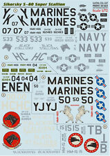 DECAL FOR SIKORSKY S-80 SUPER STALLION 1/72 PRINT SCALE 72-137