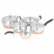 PREMIUM Stainless Steel 7Pcs Cookware Set - Copper Bottom   SALE