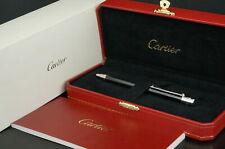 Cartier ST150189 Santos Black Silver Ballpoint pen w/Box C17