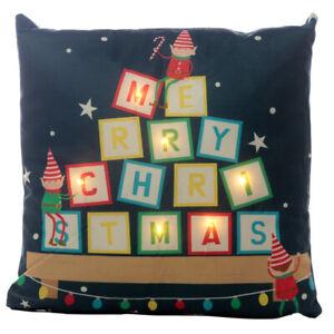 Christmas Elf LED Light Up Decretive Cushion, Elf Christmas Gift, Elf Christmas