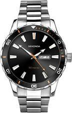 Sekonda Mens Watch day/date Classic Quartz Stainless Steel Strap 1373 RRP £49.99