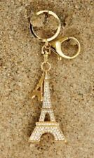 Key Ring/Bag Charm, Eiffel Tower with Crystals & smaller charm  - Stunning!