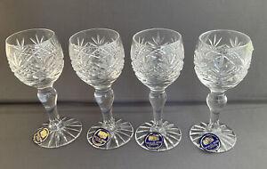 Set of 4 New Vintage Thomas Webb Crystal Sherry / Port ? Glasses Cut Glass