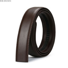Black/Brown 3.5CM Men Genuine Leather Belt For Automatic Buckle Waist Strap Belt