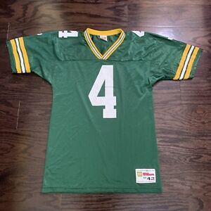 Vintage Brett Favre 4 Green Bay Packers NFL Football Wilson Jersey Mens Medium