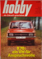 Hobby Magazine Booklet No. 23 1970 With VW K70