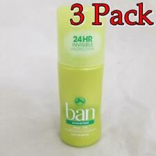 Ban Roll-On Unscented Antiperspirant/Deodorant, 1.5oz, 3 Pack 019045001729A210