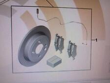MINI Genuine OEM Set of rear brake pads, rotors, w/sensor 34-21-2-167-242