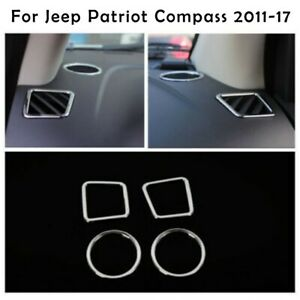 ABS Chrome Inner Air Condition Vent Cover Trim For Jeep Patriot Compass 2011-17