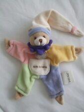 Baby Nat - Mon Doudou plat Ours Arlequin - 15 cm...P.Etat...