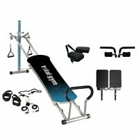 Total Gym Fitness Fusion Full Body Workout Home Fitness Exercise Bench, Teal