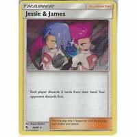 58/68 Jessie & James | Rare Holo Card | Pokemon Trading Card Game Hidden Fates