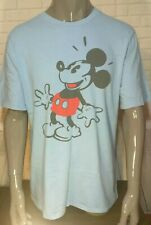 Blue Vintage Style Disney Mickey Mouse Graphic T-Shirt by Junk Food size S Nwot!