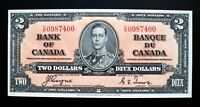 1937 BANK OF CANADA $2 Dollars **Coyne & Towers** C/R 0987400 BC-22c