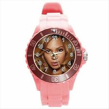 NEW* HOT BEYONCE KNOWLES Pink Round Sport Watch Gift