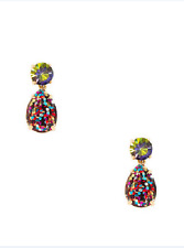 KATE SPADE Gold Plated Multi-Color Shine On Glitter Double Drop Earrings NEW